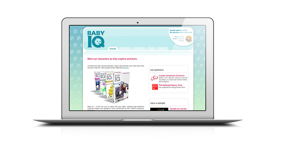 children's DVD website design