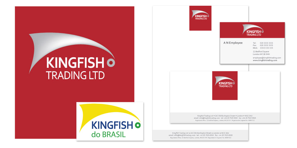 reading company logo and stationery design