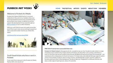 Art festival web design