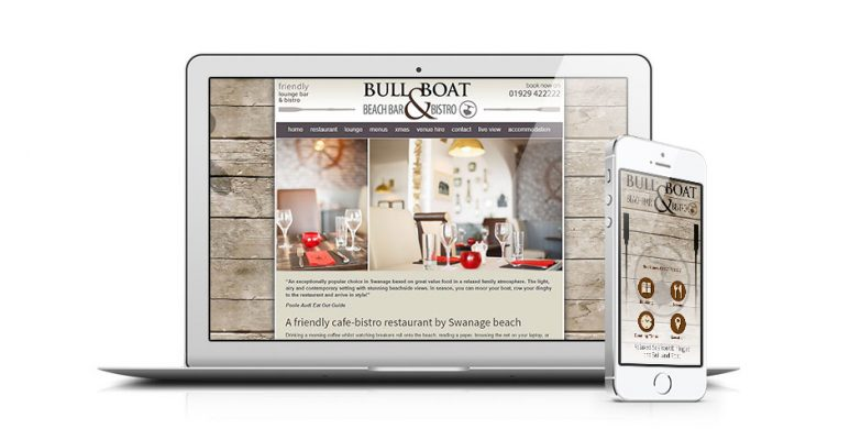 Restaurant website and banner animation
