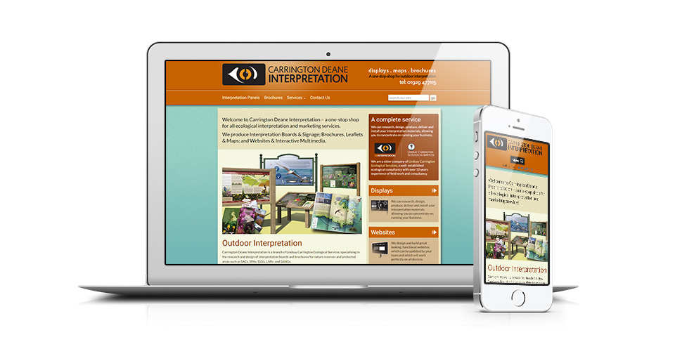 outdoor display website by Osis Design