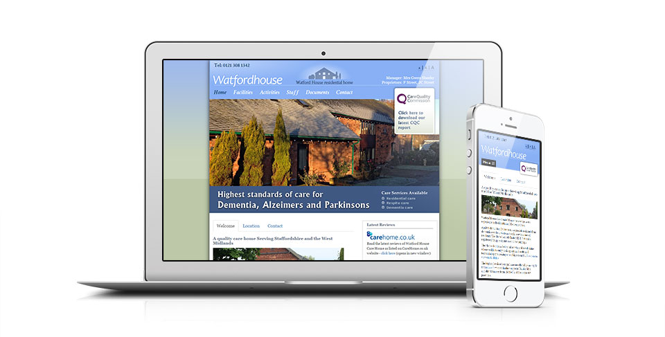 Carehome website by Osis Dorset webdesign