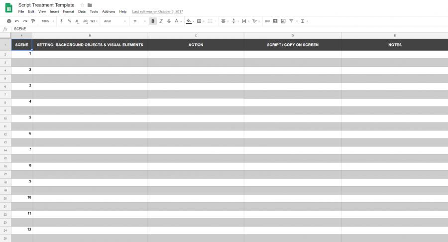 animated presentation script template