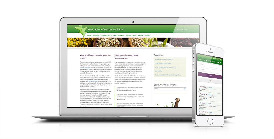 herbalists website designed by osis