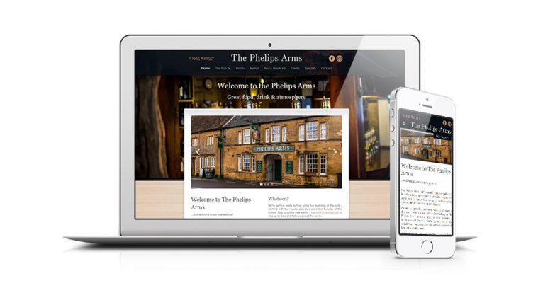 Phelips Arms Pub Website